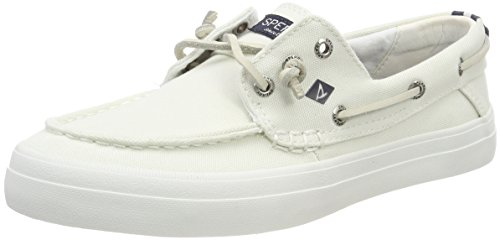 Sperry Damen Crest Resort Washed Can. White Segelschuhe, Weiß, 41 EU