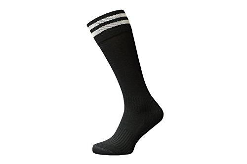 Raftaar Premium 2 Streifen Unisex Kniestrümpfe Fußball Rugby Fußball Laufen Sport Socken Erwachsene Jugendliche Kinder Größen in - Schwarz - Adult 7-11 -