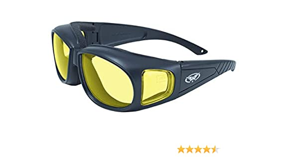 7dad119aea5fd Global Vision Outfitter Motorcycle Glasses (Black Frame Yellow Lens)   Amazon.co.uk  Car   Motorbike