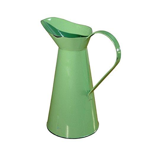 25,4cm hoch Antik Grün Emaille Wasser Krug oder Farmhouse Tisch Deko Vase Antike Krüge
