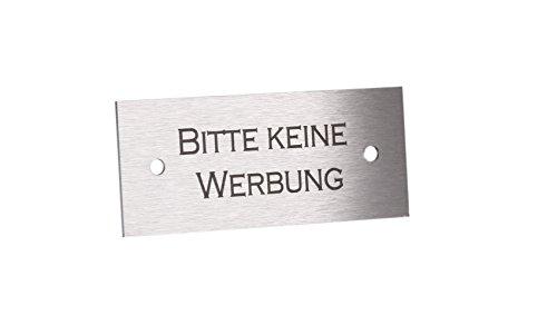 Namensschild Edelstahl mit Gravur - 7