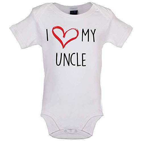 I Love My Uncle - Bébé-Body - Blanc - 0 à 3 Mois