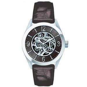 Ted Lapidus 5127402 - Reloj analógico de cuarzo para hombre con correa de piel, color marrón