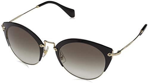 Miu Miu Damen 0MU53RS 1AB0A7 52 Sonnenbrille, Schwarz (Black/Pale Gold/Grey),