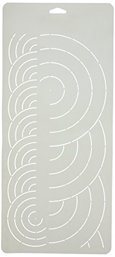 Sten Source 8x 18Quilt Schablonen mit 2/4-Zoll Grenzen überlappende Kreise (Stencil-design Quilting)