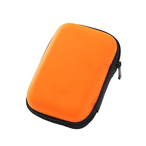 OUNONA Multi-Use-Kopfhörer Tasche USB Kabel Aufbewahrungstasche Reisetasche Organizer mit Mesh-Eva-Fall (Orange)