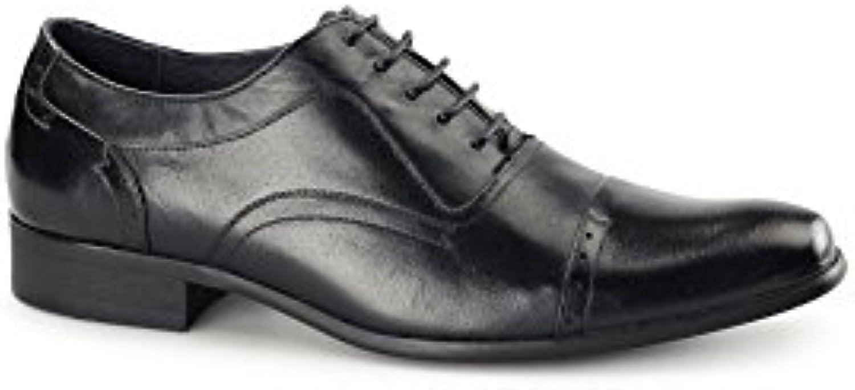 Azor Shoes - Zapatos de Cordones para Hombre Negro Negro