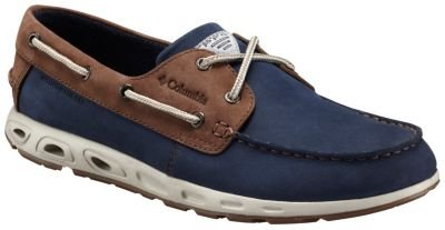 Columbia Bonehead Vent Leather Pfg, Mocassins Homme Multicolore - Multicolor (Collegiate Navy/Stone)