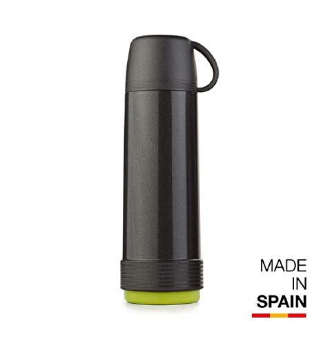 Valira 6112/128 Termo para liquidos de 1 L Hecho en España, Color Negro-Verde