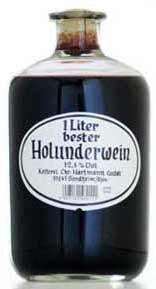 Christian Hartmann 1 Liter bester Holunderwein Apothekerflasche
