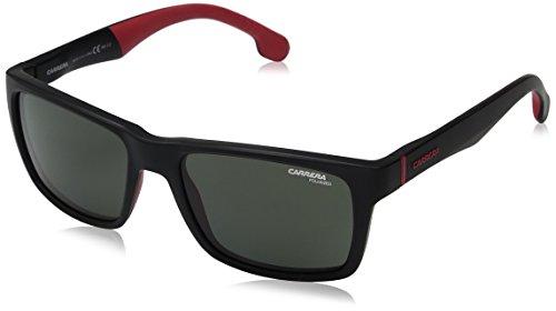 Carrera Unisex-Erwachsene 8024/S UC 003 Sonnenbrille, Schwarz (Matt Black/Green Pz), 55