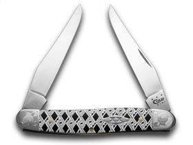 CaseXX XX Celtic Maze Black Delrin Scrolled Bolster 1/500 Muskrat Pocket Knife Knives