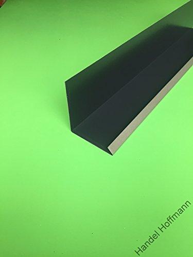 Wandanschlußblech 1 m lang Aluminium farbig 0,8 mm (klein, Anthrazit RAL 7016)