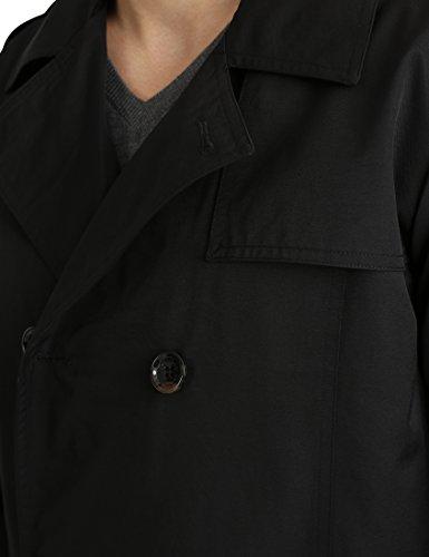 James Tyler Trench avec ceinture pour homme Noir