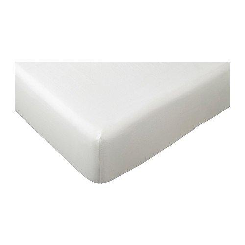 IKEA DVALA Spannbettlaken in weiß (140x200cm)