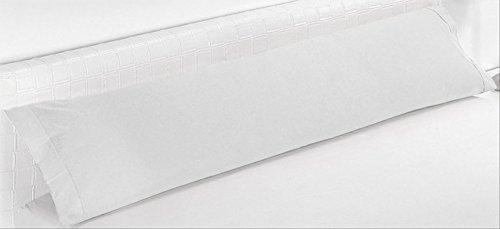 ForenTex - Funda de Almohada, BX-1531, Cama 150 cm, 160 x 45 cm, Blanco, 100% Microfibra, máxima...