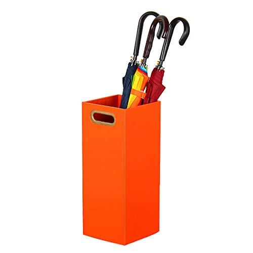 HY-Schirmständer Orange Leder Bettwäsche Regenschirm Eimer Haushalt Wohnzimmer Hotel Lobby Umbrella Racks Stehend Blumen-Anordnung (20,5 * 20,5 * 50 cm)