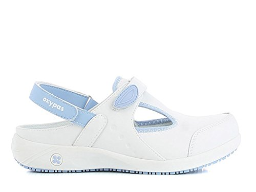 Oxypas Move Carin Slip-resistant, Antistatic Nursing Shoes, White (Lbl) , 5.5 UK (EU: 39)