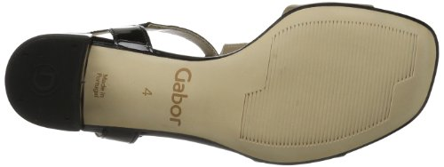 Gabor Shoes Gabor 85.601.94 Damen Sandalen Beige (taupe/schwarz)