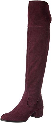 Tamaris 25575, Stivali sopra il ginocchio Donna Rosso (Vino)