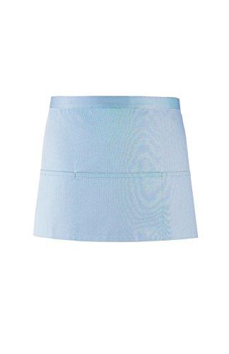 Premier Damen Schürze mit 3 Taschen bunt (One Size) (Hellblau)