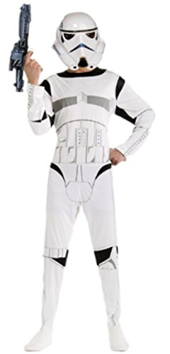 Halloweenia - Herren Star Wars Stormtrooper Kostüm, Karneval, Fasching, M/L, Weiß (Film Qualität Stormtrooper Kostüme)