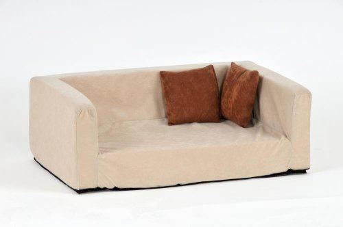 Silvio Design Hundebett, Hundeliege, Hundesofa Buddy Velour-Optik, Maße: ca. 42 x 70 x 25 cm