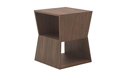 designement Watson Table d'appoint Laqué Noyer 33 x 33 x 42 cm