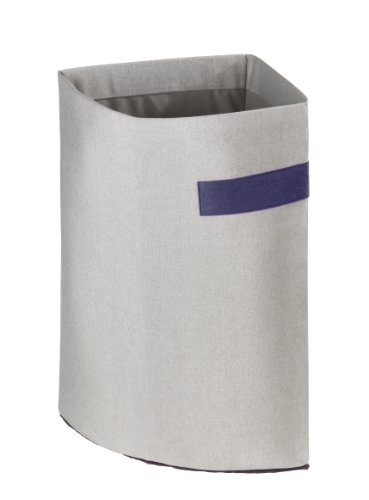 WENKO 36621100 Eckwäschesammler Polycotton - Wäschekorb, Fassungsvermögen 43 L,  42 x 54 x 31 cm, Grau