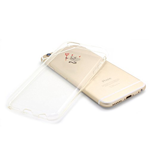 JIAXIUFEN TPU Coque - pour Apple iPhone 6 Plus / iPhone 6S plus Silicone Étui Housse Protecteur - Amusantes Capricieux Dessin Evil Color28