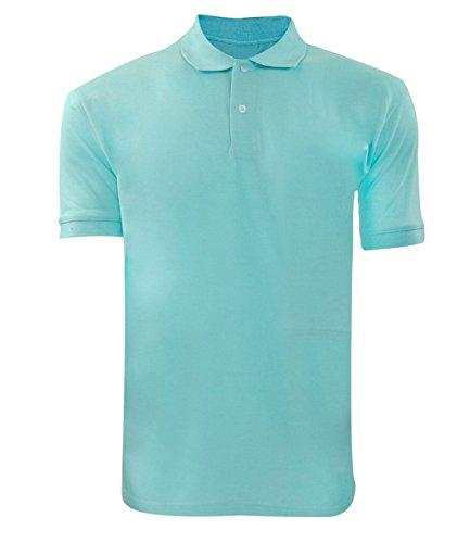Men Plain Polo T-shirt Mint 2xl
