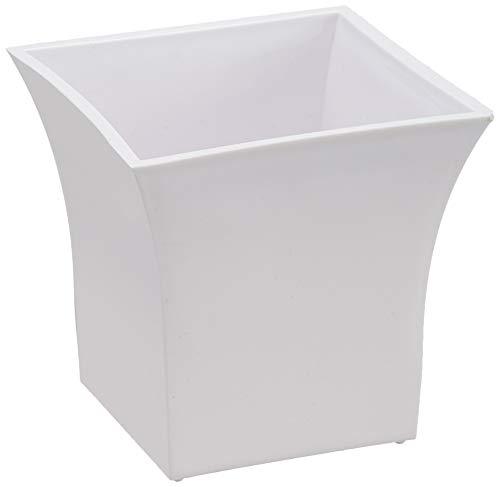 Klassic Plastic Square Planter Set (Small, White, Pack of 6)