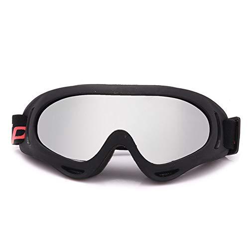 Radsport-Brillen Anti-Fog UV-Schutz Skifahren Sport Brille mit Wechselobjektiven unzerbrechlichem Rahmen PC-Objektiv Unisex Sonnenbrille,E