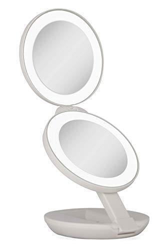 Double Miroir de Voyage 1x et 10x avec lumière LED \