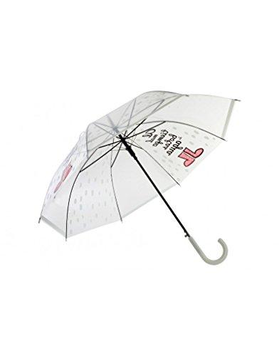 Hogar Mas Paraguas Transparente PoE Acero Inoxidable