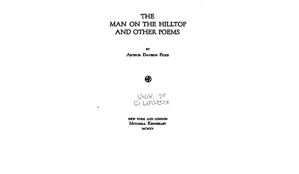 The Man On The Hilltop And Other Poems Ebook Ficke Arthur