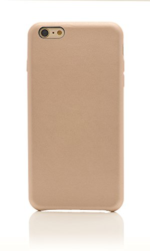 iProtect Kunstleder Schutzhülle Apple iPhone 6 Plus flexibles Case in Grau Hellbraun