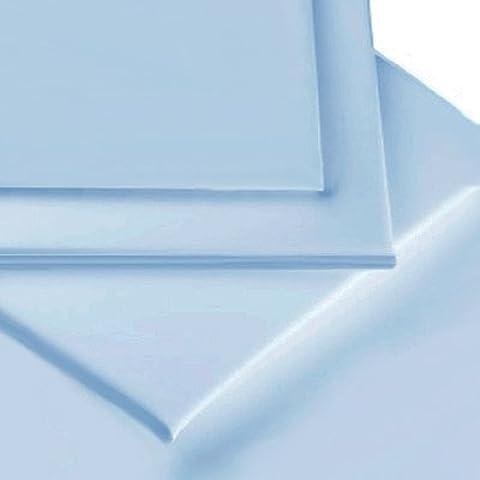 Linens Limited - Cubre canapé para cama de matrimonio de 135 x 190 cm, percal de algodón de 180 hilos, no necesita planchado, color