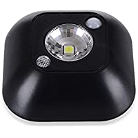 LQQAZY Lichtsteuerkörperinduktionslampe LED Energiesparendes Kreatives Nachttischkorridor Licht,Black preisvergleich bei billige-tabletten.eu