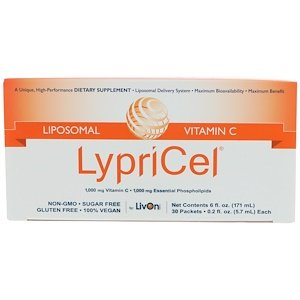 Wesentlicher Schutz Für Die Haut (Liposomale Vitamin C, 30 Pakete, 0,2 Flüssigunzen (5,7 ml) Jeder - LypriCel)