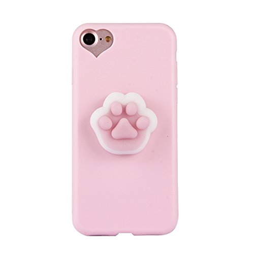 SEHNYIF-Fall Fall for iPhone 8 & 7 Modische 3D Paw Print Muster Squeeze Relief Squishy Dropproof Schutzhülle -