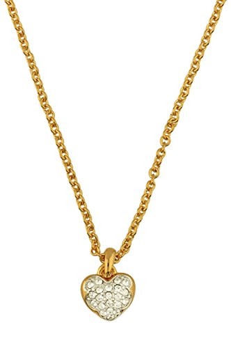 Guess Damen-Kette mit Anhänger teilvergoldet Zirkonia weiß 40 cm-UBN71528 (Guess Halskette Damen Gold)