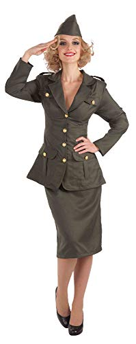 (Womens WW2 Army Uniform Fancy Dress)