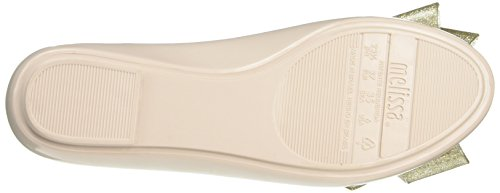 Melissa Space Love Ribbon Bow, Ballerines femme Beige (nude Gold Contrast)