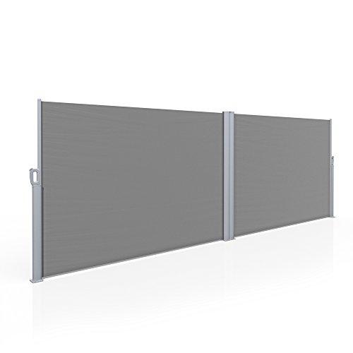 Doppel Seitenmarkise Eck Sichtschutz 160x600cm Windschutz Markise Trennwand
