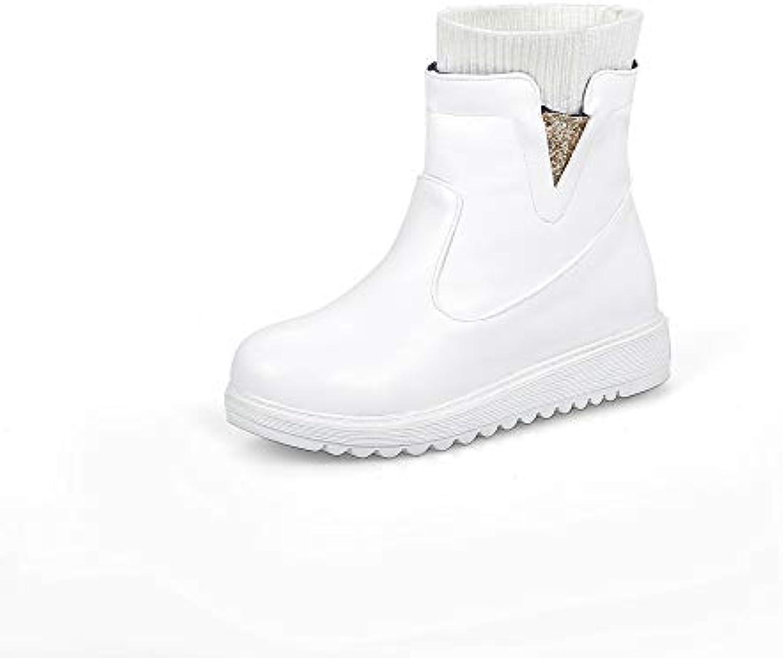 SHINIK scarpe da ginnastica Moda Donna 2018 Autunno Inverno New Casual Platform Outdoor Stivaletti,Bianca,34 | Lussureggiante In Design  | Uomo/Donna Scarpa