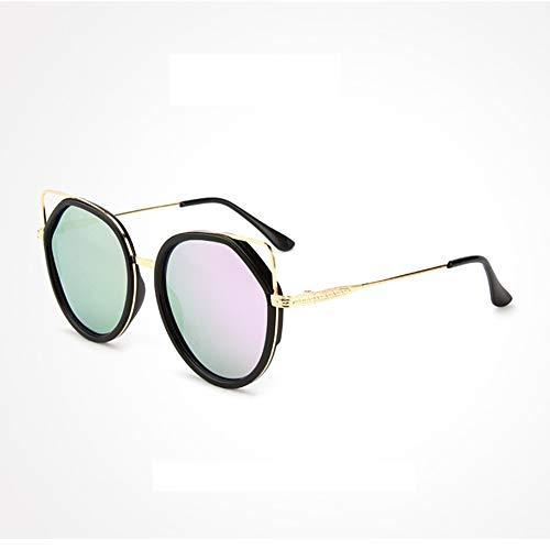 HQMGLASSES 2019 Niedliche polarisierte Cat-Eye-Sonnenbrille für Damen - Designer-Sonnenbrille mit ultraleichtem Metallrahmen, Fahren/Urlaub/Reisen, UV-Schutz UV400,Purple