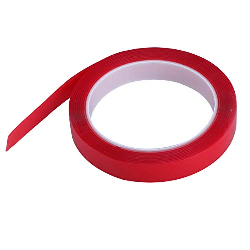 LIOOBO 20mm * 3m Hitzebeständige Acryl Doppelseitiges Klebeband Klar Band Wetterfeste Hochleistungsklebeband Handy Band Aufkleber Repair Tool (Rot) (Hitzebeständige Doppelseitige, Klebeband)