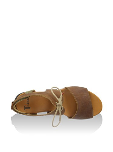 Think, Damen-Sandalette, JAEH, 82557 Braun (sattel/kombi 52)