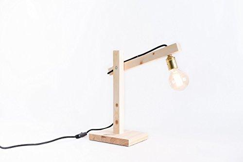 Holzlampe, edison, handgemachte Lampe, Tischlampe, Designleuchte, Schreibtischlampe. Lampe Oslo...